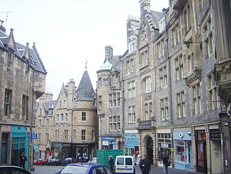 Old Town, Edinburgh - Cockburn Street in Edinburgh