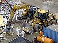 Einladen von Asbestdämmteilen DSCF4699.JPG