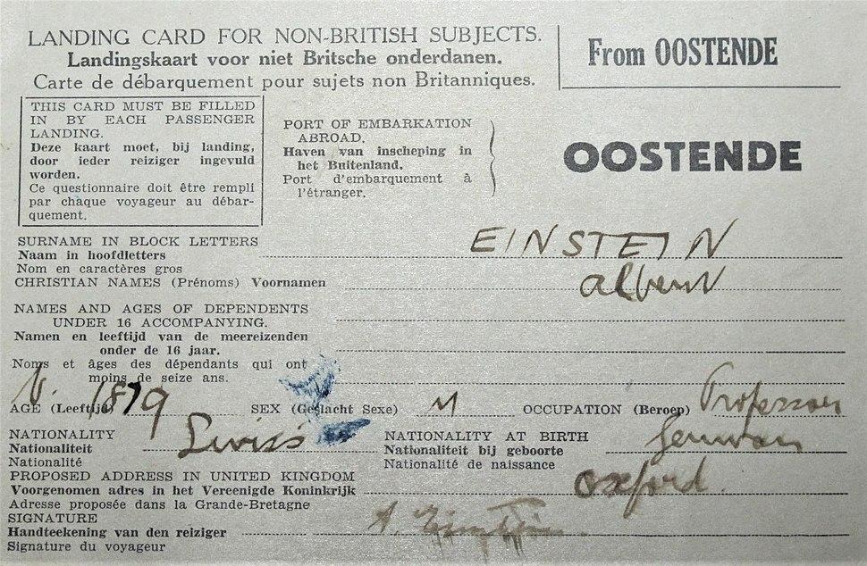 Einstein's landing card (5706142737)