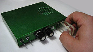 Telegraph key - Electronic dual paddle keyer (homemade in 1972)