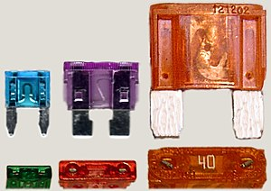 Fuse (automotive) - Mini, Regular, and Maxi Blade Type Fuses