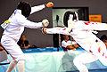 Eli Bremer in 2008 Summer Olympics modern pentathlon fencing event 3.jpg