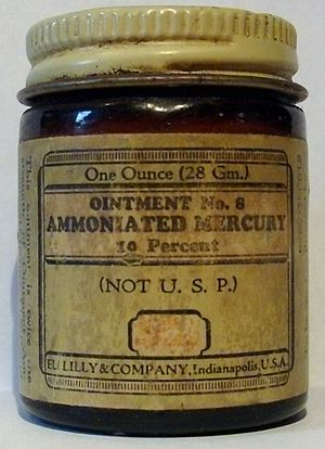 Mercuric amidochloride - Image: Eli Lilly & Company Ointment No. 8 Ammoniated Mercury