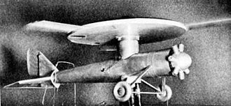 Jacob Ellehammer - 1935 photo of Ellehammer's disc-rotor compound helicopter model