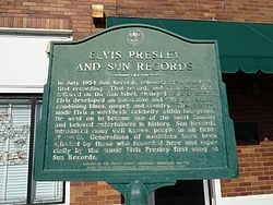 Elvis presley and sun records historical marker