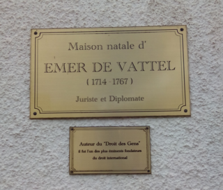Emer de Vattel jurist from the Principality of Neuchâtel