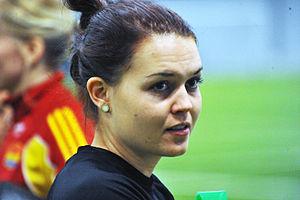 Emilia Appelqvist - Emilia Appelqvist training with Tyresö FF in March 2013