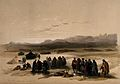 Encampment in the desert, with Mount Seir in the distance, W Wellcome V0049424.jpg