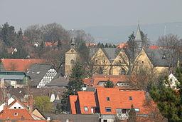 Blick über Enger mit der Stiftskirche. Fotografiert vom Liesberg.