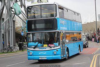 Ensignbus - Alexander ALX400 bodied Dennis Trident 2 in Stratford in May 2013