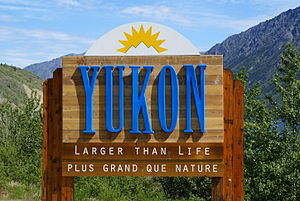 Entering the Yukon Territory of Canada