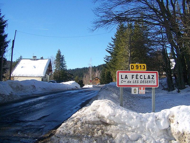 Fichier:Entrée La Féclaz (Savoie).JPG