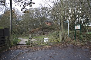 Thackley - The entrance to Buck Wood on Thackley Road