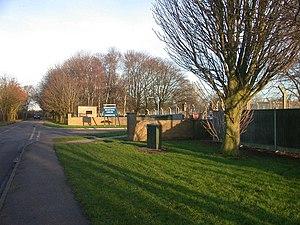Oakington Immigration Reception Centre - Entrance to Oakington Immigration Reception Centre