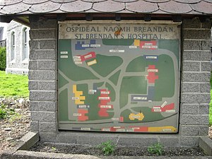 St. Brendan's Hospital, Dublin - Map of the grounds of St. Brendan's Campus
