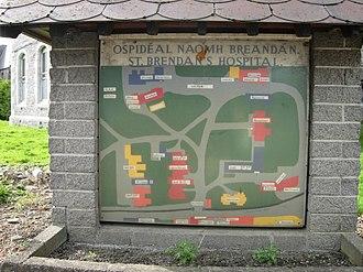 St. Brendan's Hospital, Dublin - Map of the grounds of St. Brendan's Campus