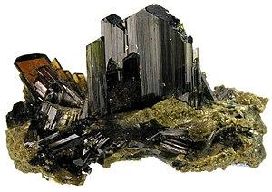 Epidote - Epidote crystals – Deposit topotype