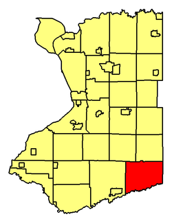 Location of Sardinia in Erie County