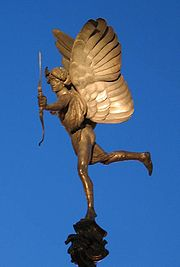 The statue of the Angel of Christian Charity (commonly mistaken for Eros) in Piccadilly Circus London, was made in 1893 and is one of the first statues to be cast in aluminium.