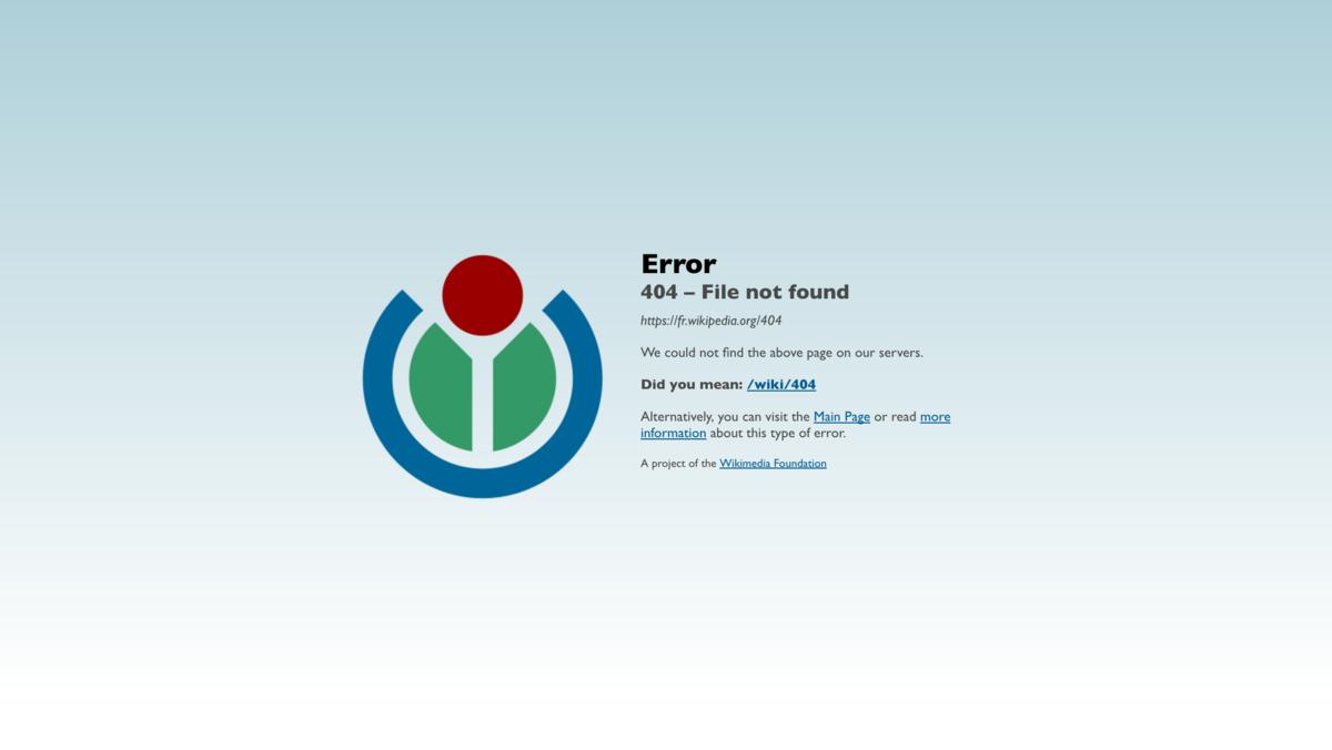Erreur Http 404 Wikipedia
