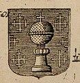 Escudo da Galiza na Carte historique et geographique des Royaumes d'Espagne et Portugal de Henri Abraham Chatelain (1705).jpg