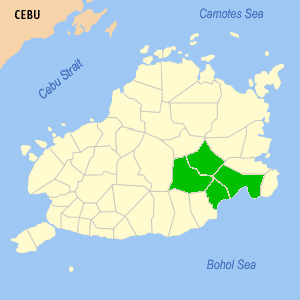 Eskaya people - locator map of Eskaya in Bohol