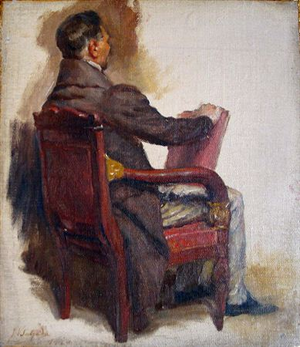 Hermano José Braamcamp de Almeida Castelo Branco - Study for the painting The Constituent Courts of 1821, by Veloso Salgado (1920), depicting Hermano José Braamcamp. The painting was commissioned to adorn the Hall of Sessions of the Portuguese Parliament.