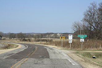 Trempealeau County, Wisconsin - Entrance sign to Trempealeau County in the Town of Ettrick