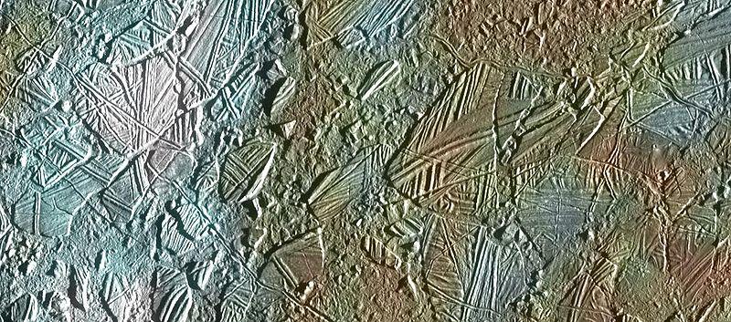 Поверхность спутник Европа, спутник Юпитера