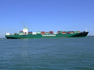 Ever Deluxe p7 approaching Port of Rotterdam, Holland 04-Aug-2007.jpg