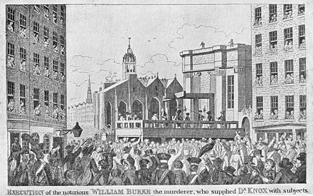 Burke's execution; from a contemporary print Execution of Burke.jpg