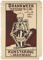 Exhibition poster. A skeleton clutching a bottle Wellcome L0072176.jpg
