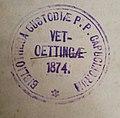 Exlibris-Stempel BibliotheK Kapuziner Altötting 1874 .jpg