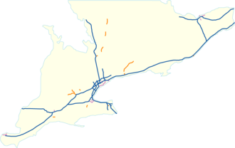 E. C. Row Expressway - Image: Expressway network sontario
