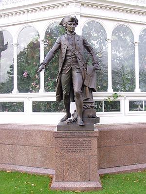 Léon-Joseph Chavalliaud - The statue of Captain James Cook at the Palm House, Sefton Park, Liverpool