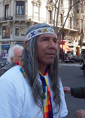 Toba people - Félix Díaz, chief of the Qom