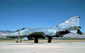 563d Flying Training Squadron - McDonnell Douglas F-4E-43-MC Phantom 69-7254/WW in F-4G configuration awaits its turn at Mojave for conversion to a 'Red Tail' target drone. The white fin cap indicates the aircraft was assigned to the 563d TFS, which inactivated in October 1989. Converted to QF-4G AF-209. Expended Jun 4, 2002.