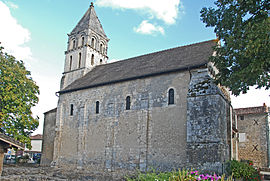 The church of Saint-Gervais-Saint-Protais, in Civaux