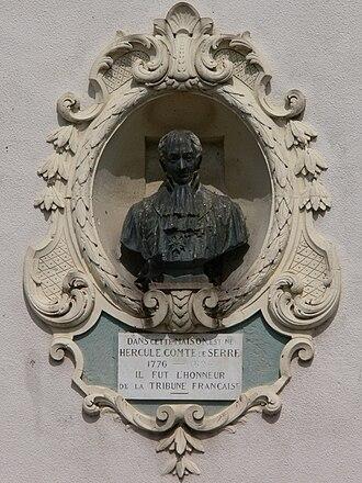 Hercule de Serre - Bust of Hercule, Comte de Serre, in Pagny-sur-Moselle, Lorraine, France