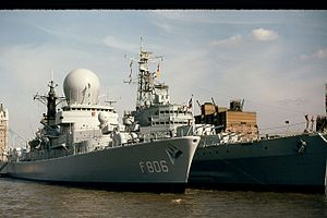 Tromp-class frigate - Picture of Tromp Class Frigate taken in 1980 by Tower Bridge