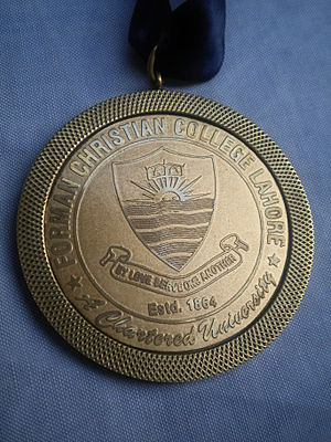 Forman Christian College - Image: FC College Gold Medal
