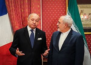Laurent Fabius - Fabius meeting with Iranian Foreign Minister Mohammad Javad Zarif