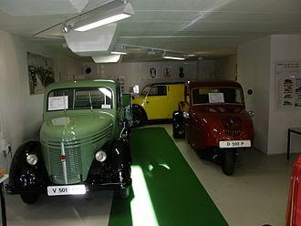 Framo (car) - Image: FR Museum D500P+V501+V901