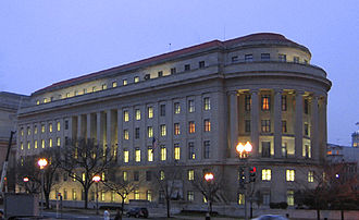 "Administrative law - American administrative law often involves the regulatory activities of so-called ""independent agencies"", such as the Federal Trade Commission, whose headquarters is shown above."