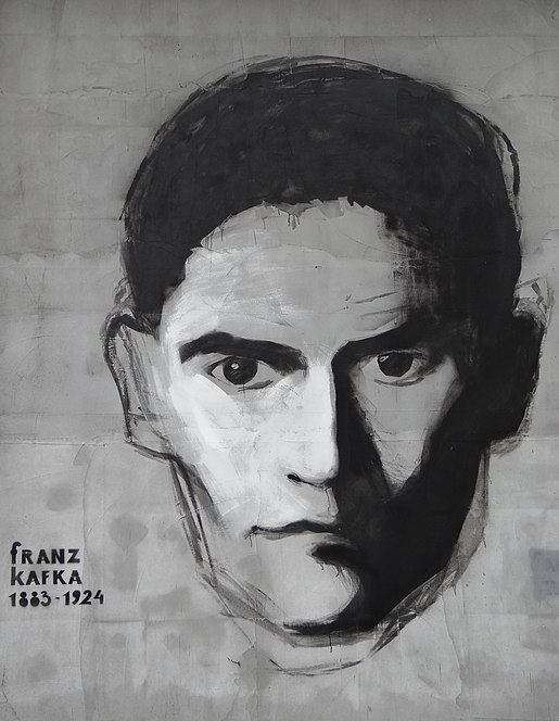 Facade with Tribute to Franz Kafka - Tykocin - Poland (35483499933).jpg