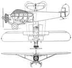 Fairchild 71 3-view Aero Digest February 1929.png