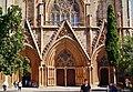 Famagusta - Gazimagusa Lala-Mustafa-Pasha-Moschee (Nikolauskathedrale) Fassade Portale.jpg