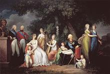 Zsófia Dorottya és I. Pál családja körében