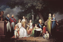 The family of Tsar Paul I and Empress Maria Feodorovna by Gerhard von Kügelgen, 1800. (Source: Wikimedia)