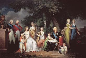Grand Duchess Olga Pavlovna of Russia - The family of Tsar Paul I, by Gerhard von Kügelgen, 1800.